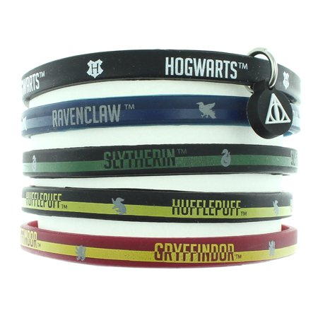 Harry Potter Books House Bracelet Hogwarts School Houses Rubber 5 - Rubber Bracelets Bulk
