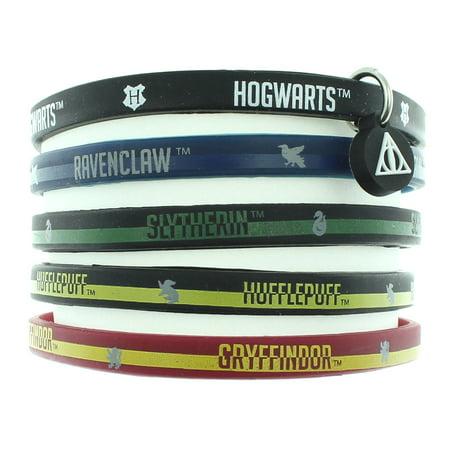 Harry Potter Books House Bracelet Hogwarts School Houses Rubber 5 Pack ()