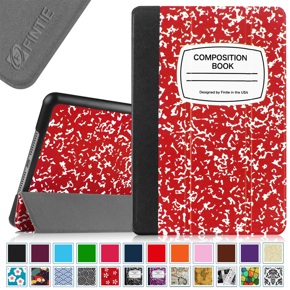 Fintie Apple iPad mini 4 2015 Case - Lightweight Stand Cover with Auto Sleep/Wake, Composition Book Red