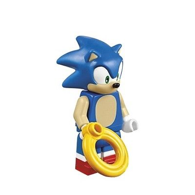 Lego Sega Dimensions Minifigure Sonic The Hedgehog With Ring 71244 Walmart Com Walmart Com