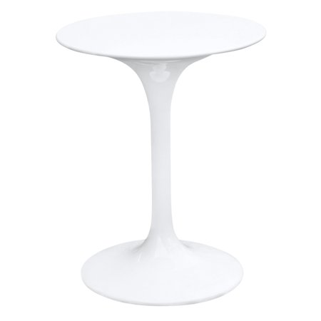 Fine Mod Imports Flower Table-Color:White,Size:23,Style:Contemporary/Modern