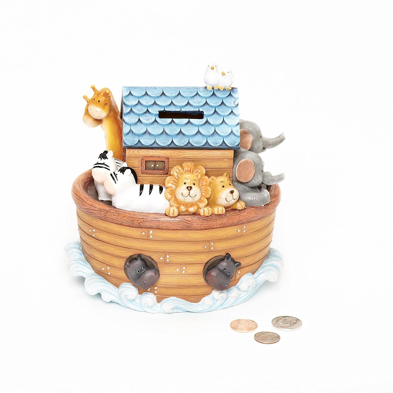 """Exclusive """"Noah's Ark"""" Children's Piggy Bank Features The..."""