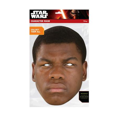 Star Wars Finn Facemask Halloween Costume Accessory (Finn Wittrock Halloween)