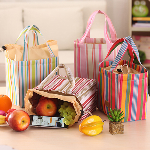 Moderna Insulated Cooler Lunch Box Bag Canvas Storage Handbag Travel Picnic Food Bag Tote