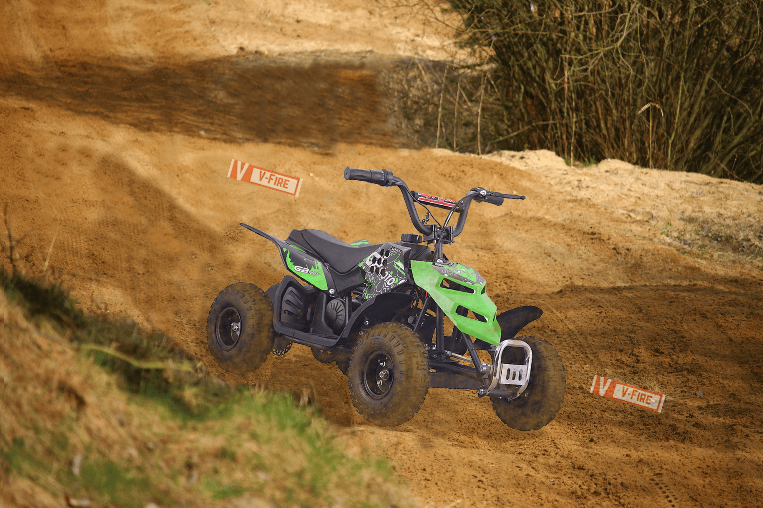 Go-Bowen Electric Mini ATV Monster Insect on 250W 24V(Green) by