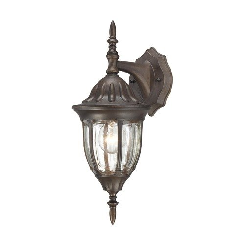 Thomas Lighting Westchester One Light Outdoor Down Wall Lantern in Painted Bronze
