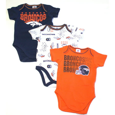 8701395c NFL Denver Broncos Baby Boys Short Sleeve Bodysuit Set, 3-Pack ...