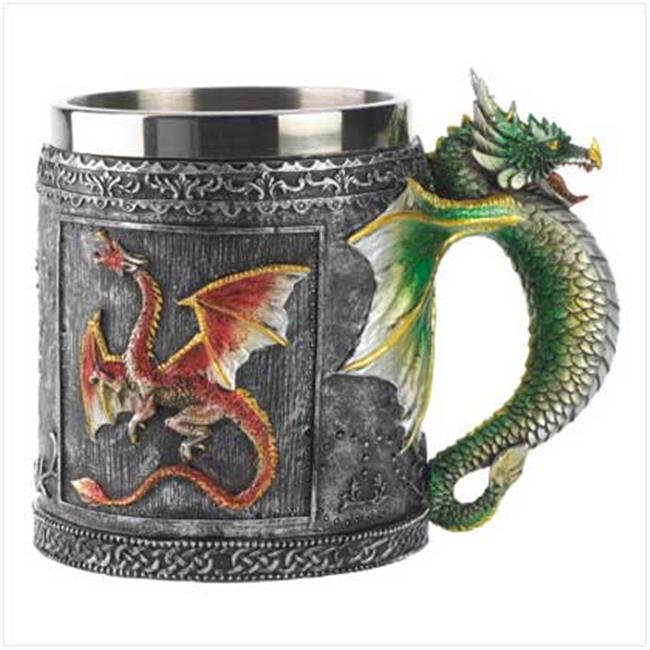 SWM 12694 Royal Dragon Mug Serpent Medieval Collectible Stein - Polyresin and metal