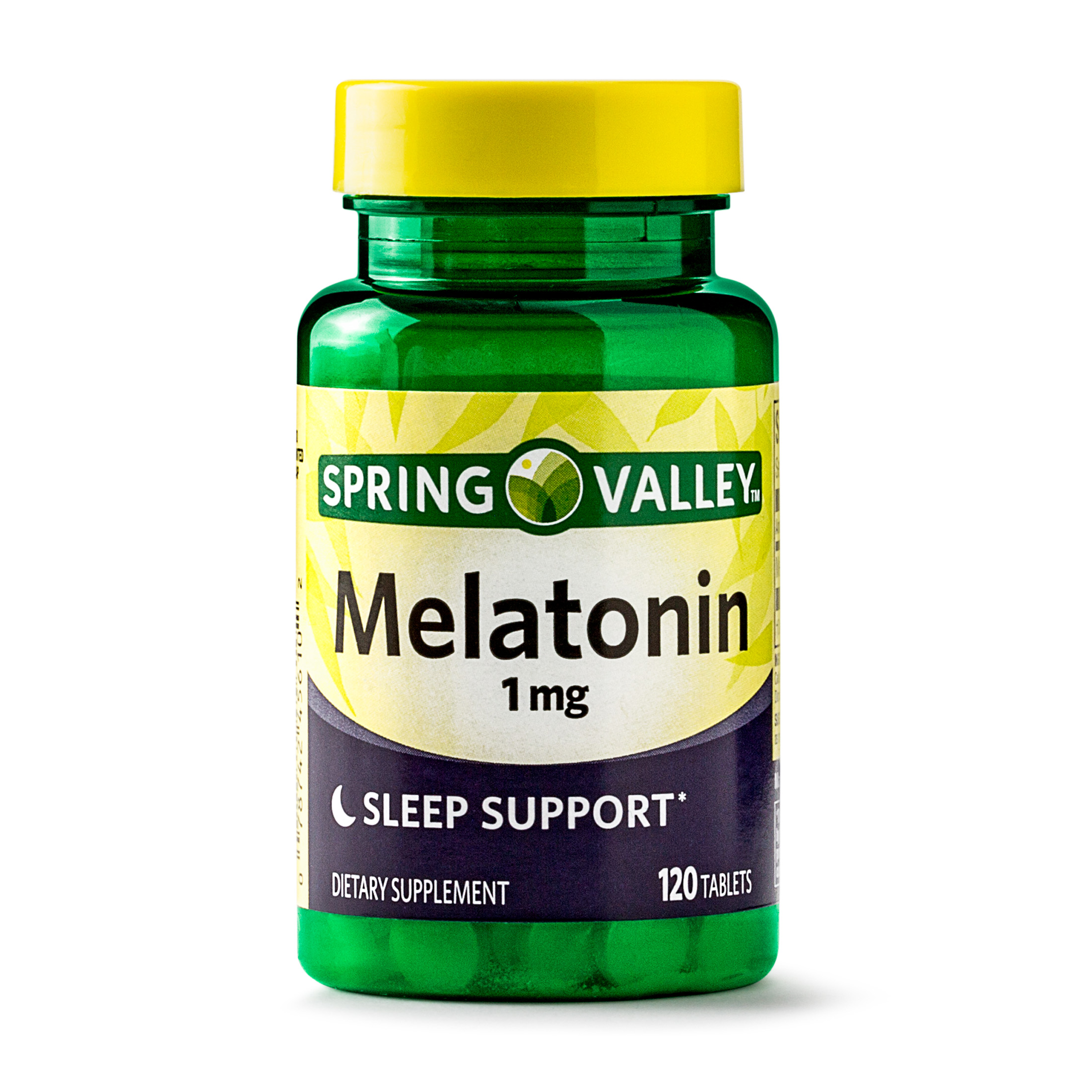 (2 Pack) Spring Valley Melatonin Tablets, 1 mg, 120 Ct