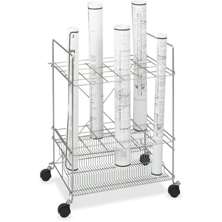 Safco Upright Roll - Chrome Wire Roll File, 24Compartment, Chrome