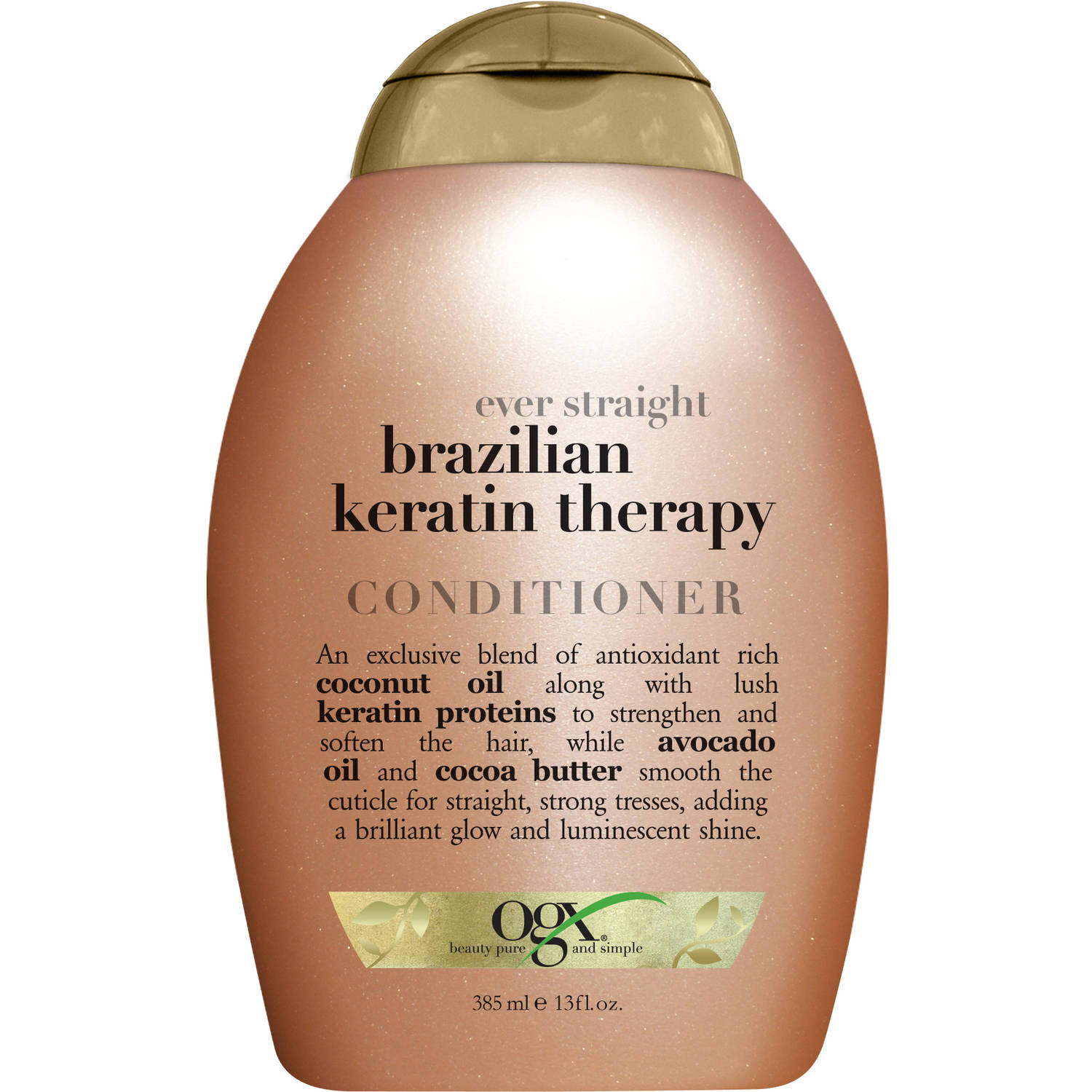 OGX Ever Straight Brazilian Keratin Therapy Conditioner, 13 oz
