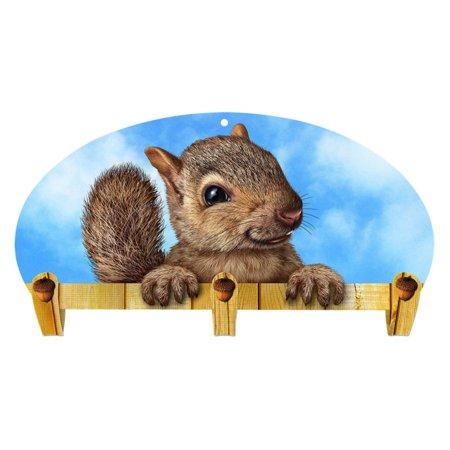 Next Innovations Squirrel 3 Hook Kids Mounted Coat Rack ()