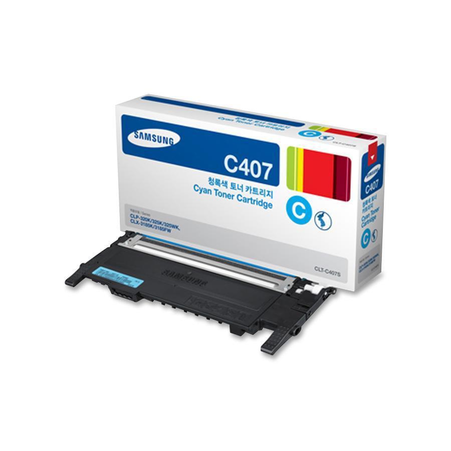 Samsung, SASCLTC407S, CLTC/K/M/Y407S Toner Cartridges, 1 Each