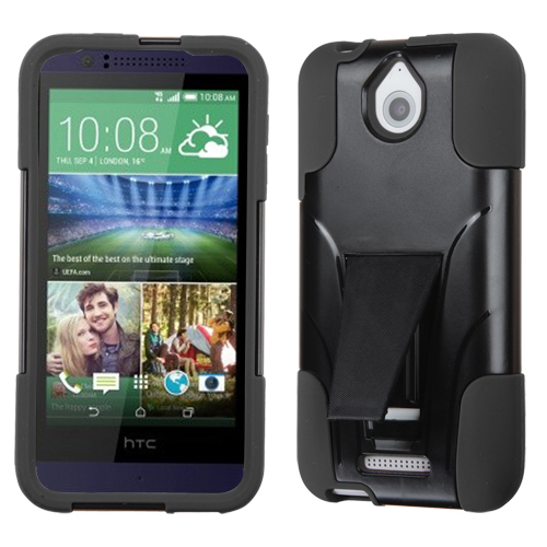 For Desire 510 Black Inverse Advanced Armor Stand Protector Cover