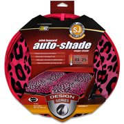 Auto Expressions Leopard Magic Shade Super Jumbo Windshield Shade, Pink
