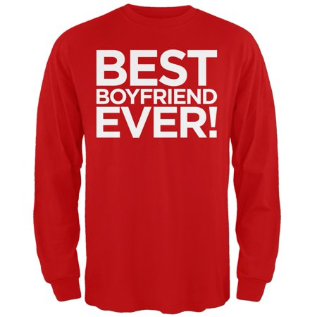 Valentine's Day - Best Boyfriend Ever Red Adult Long Sleeve (Be The Best Boyfriend)