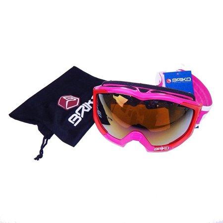 Briko K-Racy Purple Red Revo Metal Pink Lens Ski Goggles (Briko Sonnenbrille)
