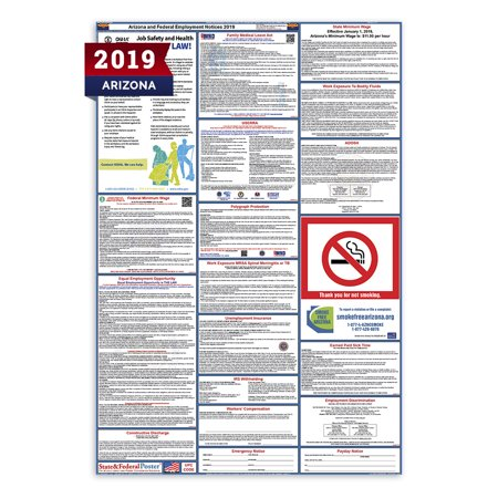 Labor Law Poster (2019 Arizona State and Federal Labor Law Poster (Laminated) )