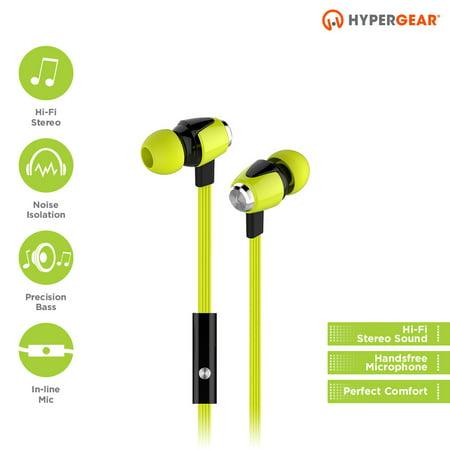 HyperGear Green dBM Wave Earphones w/Mic 3.5mm