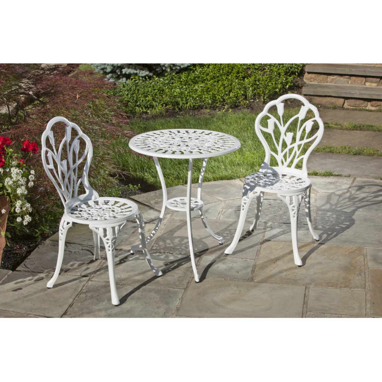Alfresco Tulipano 23.75 in. Round Bistro Set
