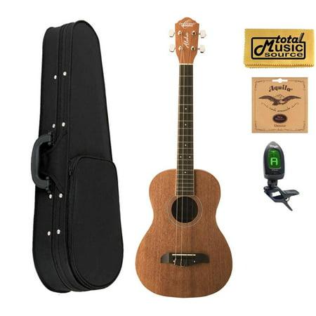 oscar schmidt ou52 baritone ukulele all mahogany w soft case tuner strings pc ou52 scase. Black Bedroom Furniture Sets. Home Design Ideas