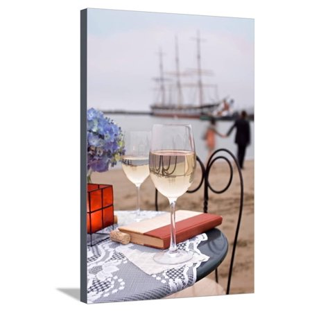 Dream Cafe Hyde St Pier #29 Stretched Canvas Print Wall Art By Alan Blaustein