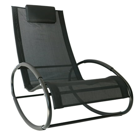 Magnificent Outsunny Patio Rocking Lounge Chair Orbital Zero Gravity Seat Pool Chaise W Pillow Black Forskolin Free Trial Chair Design Images Forskolin Free Trialorg