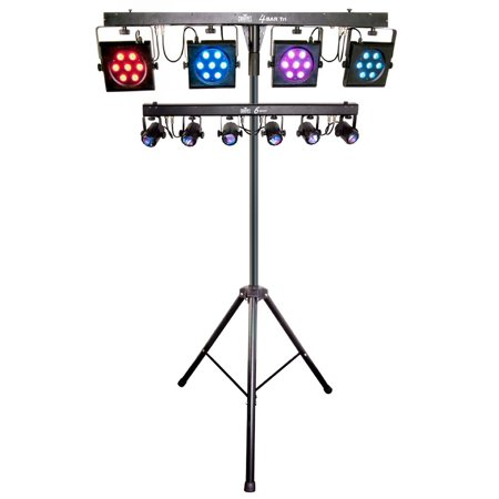 Chauvet Dj 4bar Tri Usb 6 Spot Led Stage Light Kit Bar System W Travel Bags
