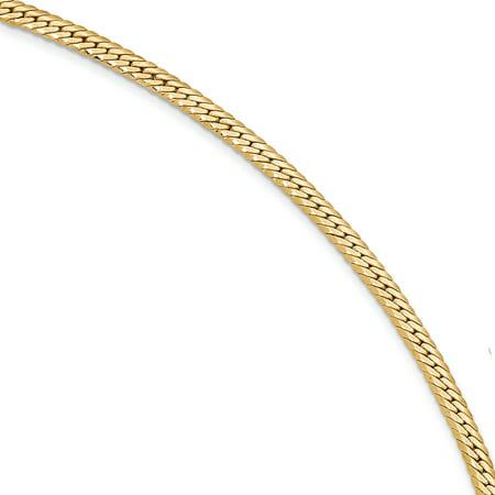 14k Yellow Gold 7 Inch Link Bracelet 7.50 Fine Jewelry For Women Gift Set
