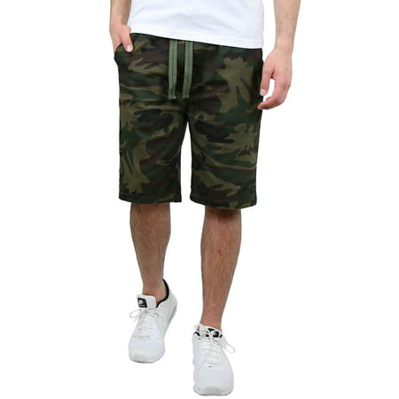 Men's Cotton Stretch Twill Jogger Lounge Shorts