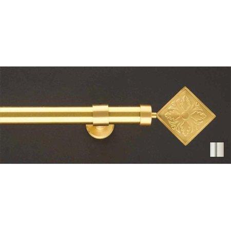 WinarT USA 8. 1140. 20. 01. 280 Liber 1140 Curtain Rod Set -. 75 inch - Matte Nickel - 110 inch