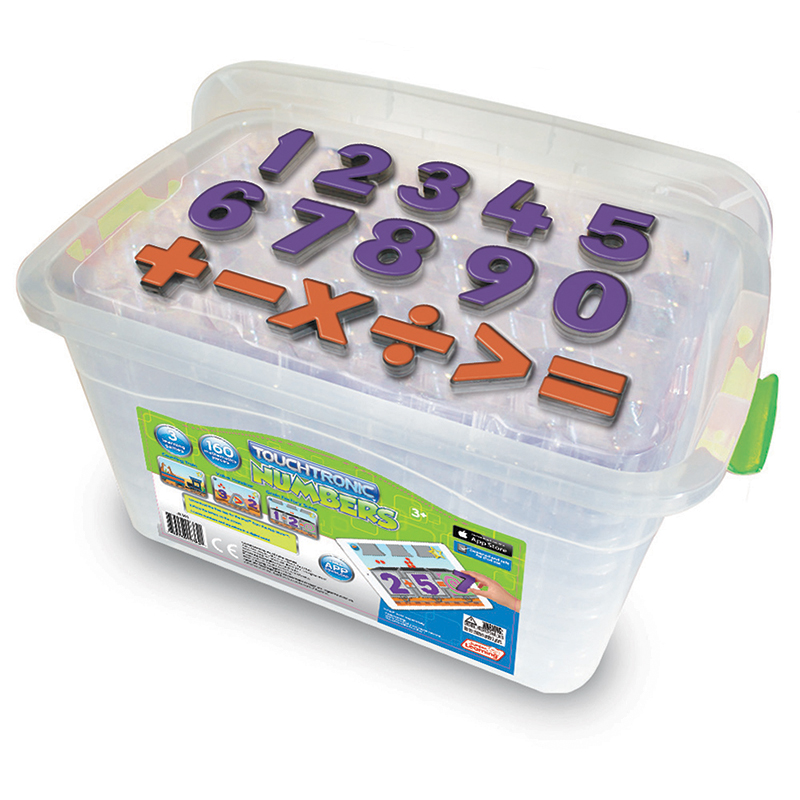 Junior Learning Touchtronic Number Kit, 3 Learning Games and 160 Mathematic Pieces for iPad