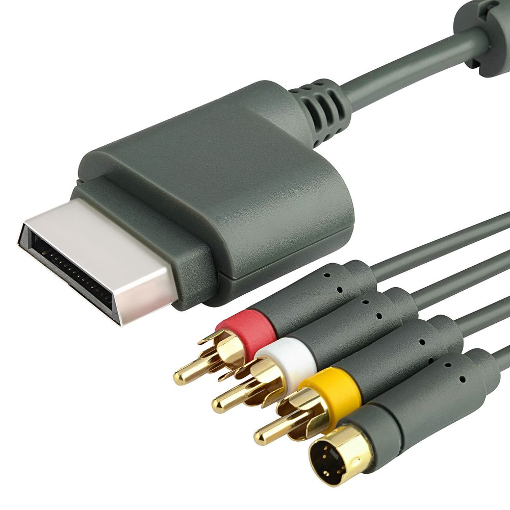 Insten 6ft gray av composite and s-video cable for microsoft xbox.