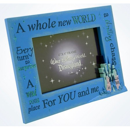 Disney Parks A Whole New World For You and Me Picture Photo Frame 4x6 New](Disney World Halloween Photos)