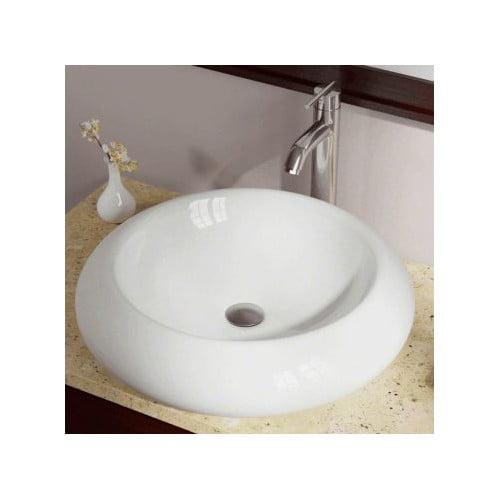 Polaris Sinks Porcelain Circular Vessel Bathroom Sink