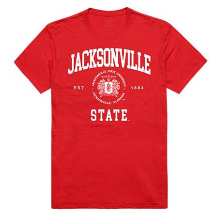 W Republic Apparel 526-126-RED-05 Jacksonville State University Seal Tee Shirt for Men - Red, 2XL - image 1 of 1