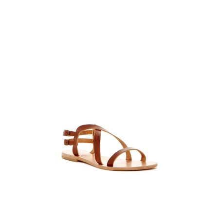 Joie Womens Socoa Leather Open Toe Casual Strappy Sandals, Cognac, Size 5.5