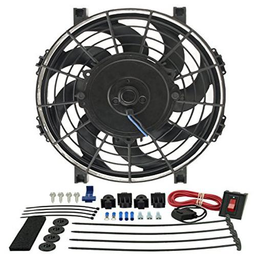 "Derale 16509 9"" Tornado Electric Fan Premium Kit"