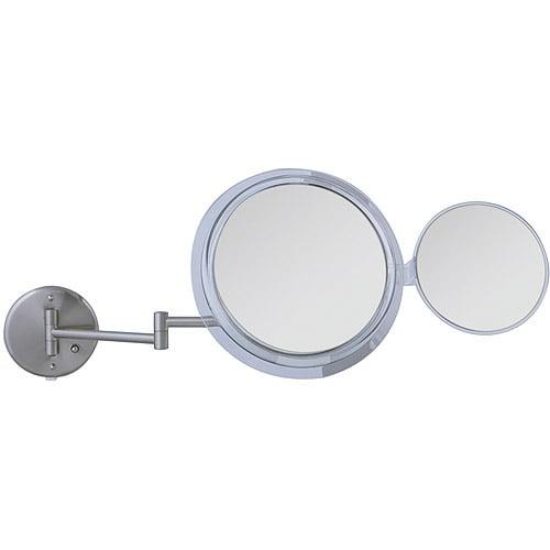MSW47 Zadro Surround Light Wall Mount Mirror with Mini Folding Mirror & 5x & 7x Magnification