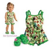 "American Girl Lea's Rain Forest Dreams Pajamas and Slippers - For 18"" Doll"