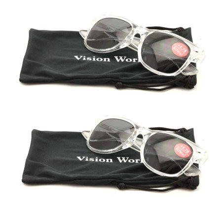 44619465be V.W.E. 2 Pairs Classic Bifocal Outdoor Reading Sunglasses - Comfortable  Stylish Simple Readers Rx Magnification - Walmart.com
