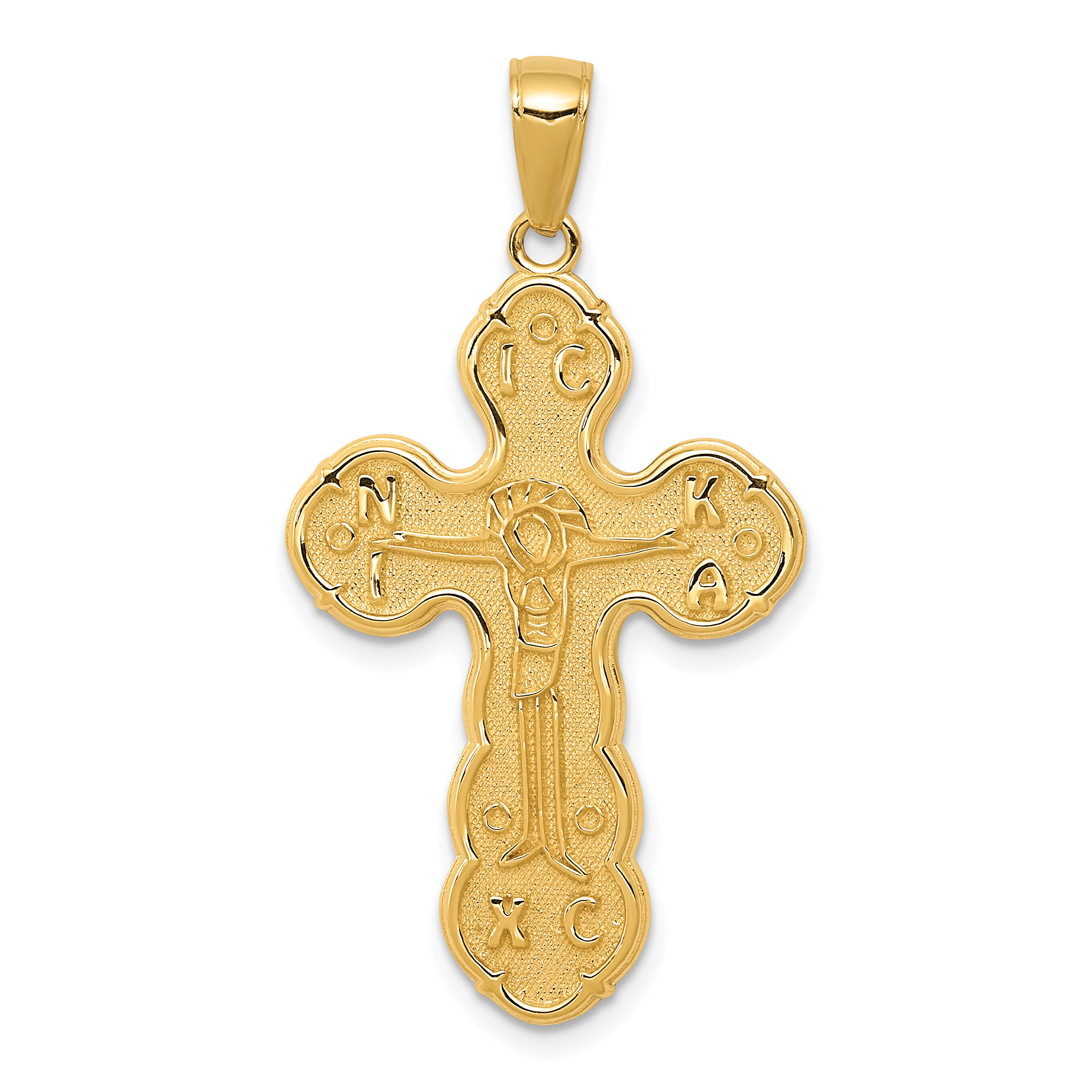 14k Yellow Gold Crucifix Cross Religious Pendant Charm Necklace Fine Jewelry Gifts For Women For Her - image 2 of 2