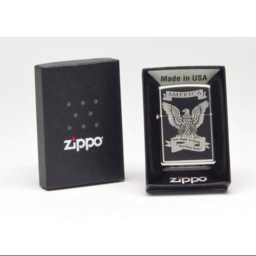 Zippo EAGLE,  High Polish Chrome 28290