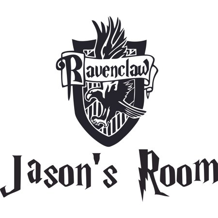 Ravenclaw House Logo Harry Potter Customized Wall Decal - Custom Vinyl Wall Art - Personalized Name - Baby Girls Boys Kids Bedroom Wall Decal Room Decor Wall Stickers Decoration Size