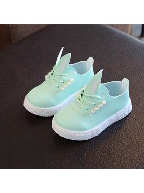 Baby Girls Toddler Infant First Walkers Soft Sole Non-Slip Shoes Sneakers