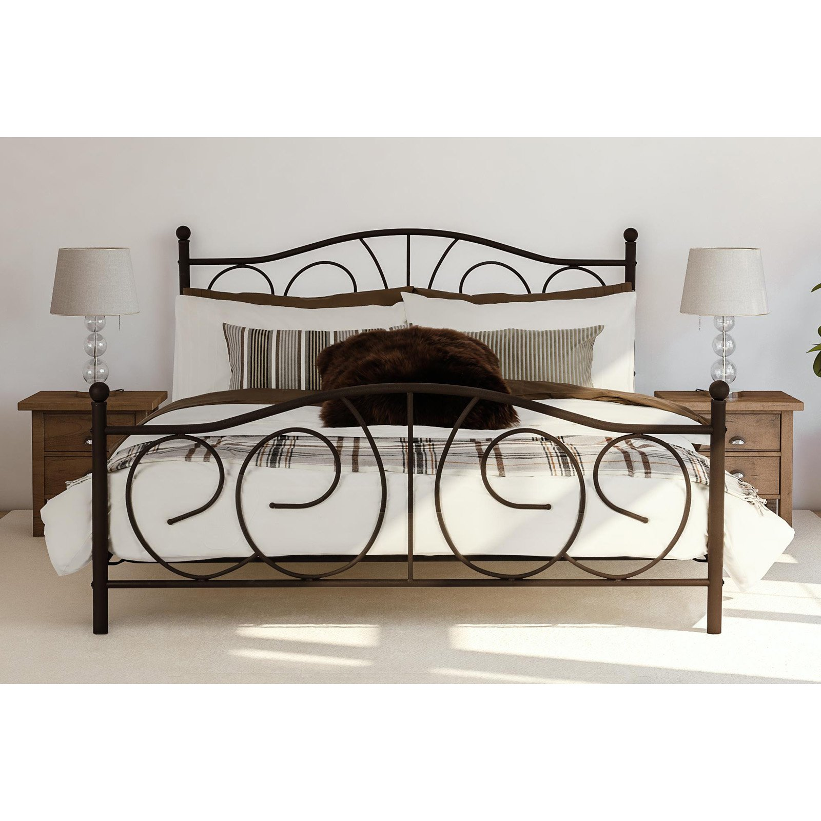 DHP Victoria Metal Sturdy Bed Frame, Bronze, Multiple Sizes