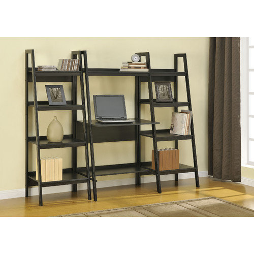 Altra Metal Ladder Desk Black Walmart Com