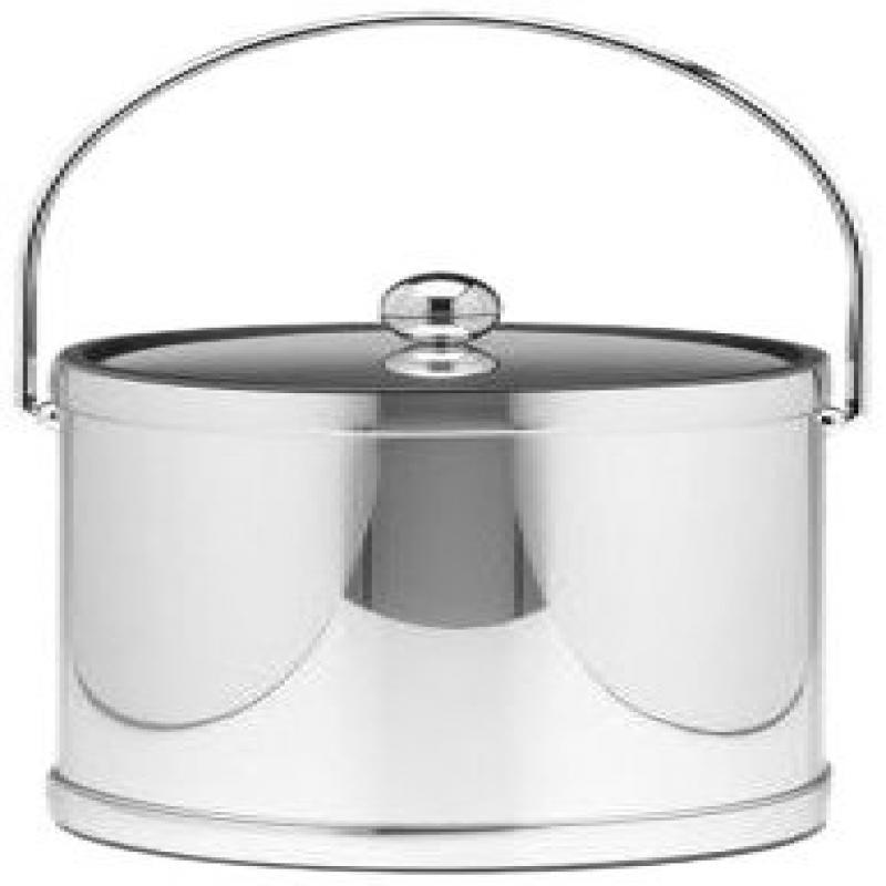 Kraftware Mylar Polished Chrome 3-Quart Ice Bucket with B...