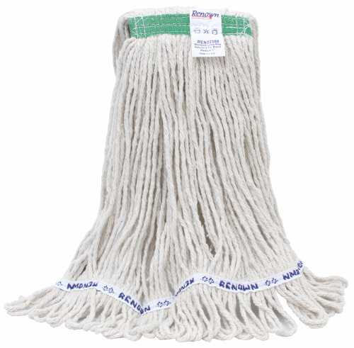 "RENOWN� HEAVY-DUTY BLEND LOOP WET MOP MEDIUM WHITE 1"" per 5 Each"