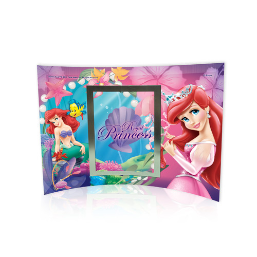 Trend Setters Disney Princesses (Ariel) Curved Glass Print with Photo Frame